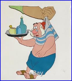 1953 Walt Disney Peter Pan Mr Smee & Pirate Original Production Animation Cel