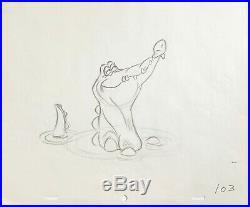 1953 Walt Disney Peter Pan Tick Tock Original Production Animation Drawing Cel