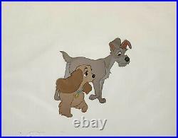 1955 Rare Walt Disney Lady And The Tramp Original Production Animation Cel