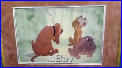 1955 WALT DISNEY original hand painted production cel from'LADY AND THE TRAMP