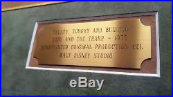 1955 WALT DISNEY original hand painted production cels from'LADY AND THE TRAMP