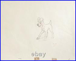 1955 Walt Disney Lady And The Tramp Original Production Animation Drawing Cel