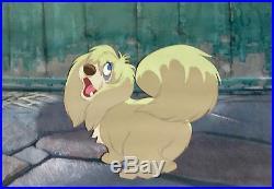 1955 Walt Disney Lady And The Tramp Peg Dog Original Production Animation Cel