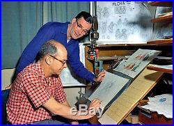 1959 DISNEY SLEEPING BEAUTY FAUNA ORIGINAL PRODUCTION CEL SIGNED by 2 Old Men