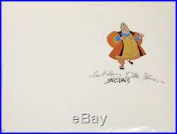 1959 Disney Sleeping Beauty King Hubert Signed Original Production Animation Cel
