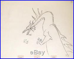 1959 Disney Sleeping Beauty Maleficent As Dragon Original Production Drawing Cel