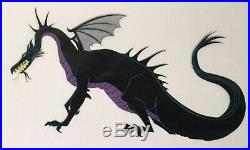 1959 Disney Sleeping Beauty Maleficent Dragon Prince Original Production Cel