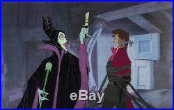 1959 Disney Sleeping Beauty Maleficent Prince Original Production Animation Cels