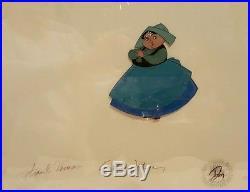 1959 Disney Sleeping Beauty Merryweather Original Production Cel Signed