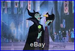 1959 Disney Sleeping Beauty Signed Maleficent Diablo Original Production Cel