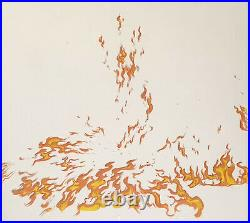 1959 Rare Disney Sleepting Beauty Fire Flames Original Production Animation Cel