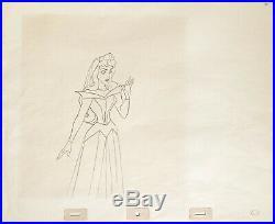 1959 Rare Walt Disney Sleeping Beauty Aurora Original Production Drawing Cel