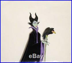 1959 Rare Walt Disney Sleeping Beauty Maleficent Diablo Original Production Cel