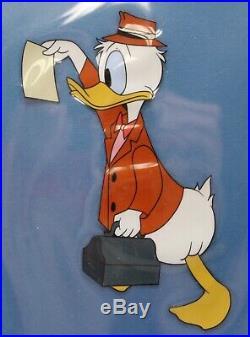 1959 Walt Disney Donald Duck Art Corner Original Production Cel