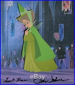1959 Walt Disney Sleeping Beauty Fauna Signed Original Production Animation Cel