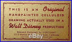 1961 Disney 101 Dalmatians Colonel Tibbs Dog Original Production Animation Cel
