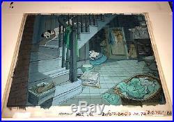 1961 Disney 101 Dalmatians Original Production Cel & Key Master Background-Rare