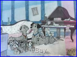 1961 Disney 101 Dalmatians Original Production Cel withHand Painted Background