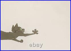 1961 Disney 101 Dalmatians Tibbs Lucky Cat Dog Original Production Animation Cel