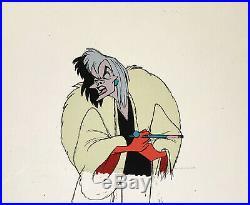 1961 Walt Disney 101 Dalmatians Cruella De VIL Original Production Animation Cel