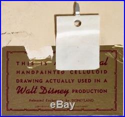 1963 Disney Sword In The Stone Madam MIM Dragon & Fire Original Production Cel