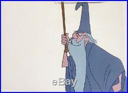1963 Disney Sword In The Stone Merlin Archimedes Owl Original Production Cel