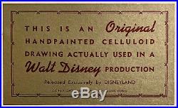 1963 Rare Disney Sword In The Stone Mad Madam MIM Cat Original Production Cel