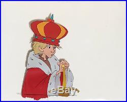 1963 Rare Disney Sword In The Stone Wart King Arthur Original Production Cel