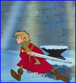1963 Rare Walt Disney Sword In The Stone Wart Excalibur Original Production Cel