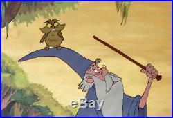 1963 Walt Disney Sword In The Stone Merlin Owl Original Production Animation Cel