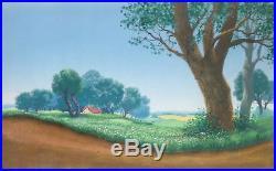 1964 Rare Walt Disney Mary Poppins Original Production Animation Background Cel
