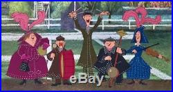 1964 Rare Walt Disney Mary Poppins Pearly Band Original Production Animation Cel