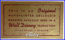 1964 Rare Walt Disney Mary Poppins Pearly Band Original Production Animation Cel