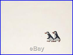 1964 Rare Walt Disney Mary Poppins Penguins Original Production Animation Cel
