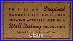 1964 Rare Walt Disney Mary Poppins Penguins Original Production Animation Cel