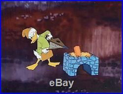 1965 Walt Disney Donald Duck Steel America Original Production Animation Cel