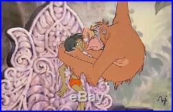 1967 Rare Disney Jungle Book King Louie Mowgli Original Production Animation Cel