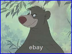 1967 Rare Walt Disney Jungle Book Baloo Original Production Animation Cel