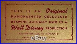 1967 Rare Walt Disney Jungle Book Mowgli Kaa Original Production Animation Cel