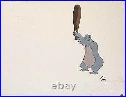 1967 Walt Disney Jungle Book Baloo Bagheera Original Production Animation Cel
