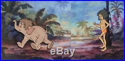 1967 Walt Disney Jungle Book Mowgli Elephant Original Production Animation Cel