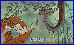 1967 Walt Disney Jungle Book Shere Khan & Kaa Original Production Animation Cels