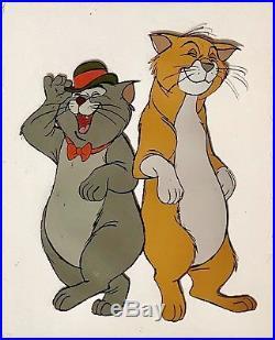 1970 Disney Aristocats Thomas Omalley Scat Cat Original Production Animation Cel