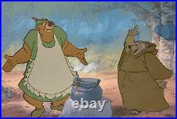 1973 Disney Robin Hood Little John Friar Tuck Original Production Animation Cel