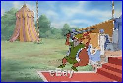 1973 Rare Walt Disney Robin Hood Original Production Animation Cel & Background