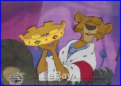 1973 Walt Disney Robin Hood Prince John Original Production Animation Cel Framed