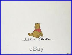 1974 Rare Walt Disney Winnie The Pooh Signed Original Production Animation Cel