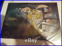 1977 Disney MANY ADVENTURES OF WINNIE THE POOH Movie Production Cel NICE