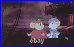 1977 Rare Disney The Rescuers Bernard Bianca Original Production Animation Cel