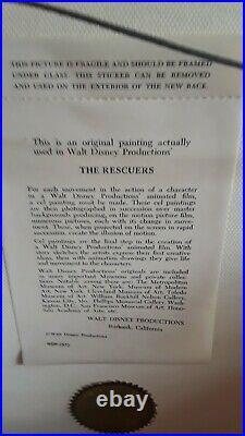 1977 Rare Disney The Rescuers Madame Medusa Original Production Animation Cel